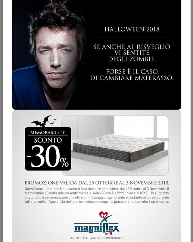 halloween materassi promozione offerta
